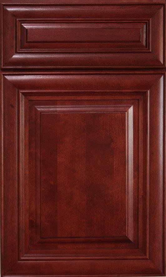 Cherry Wood Kitchen Cupboards Set For Sale